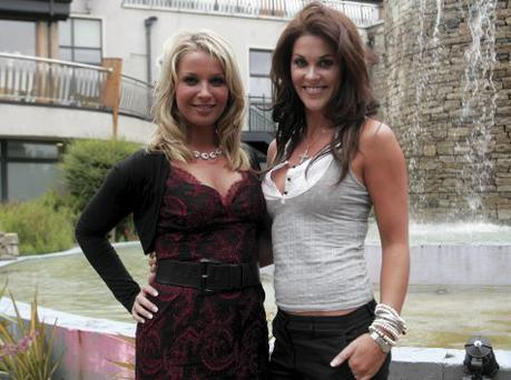 MODEL BEHAVIOUR: Katy French and Glenda Gilson at the launch of the Kildare Voice newspaper last month
