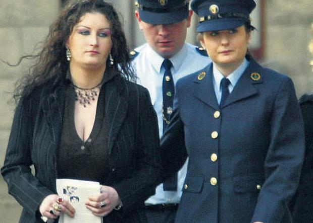 Charlotte Mulhall leaving court yesterday after being refused the right to appeal her conviction