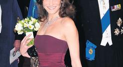 CHIC CARLA: Sarkozy's wife Bruni carried off stately duties in a seemly way