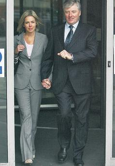 Mr Kenny and his wife Kathy at the High Court