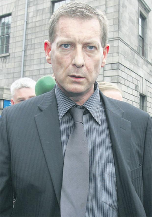 John O'Brien leaving court yesterday after being found not guilty of his wife's murder