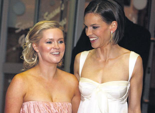 Multimillionaire Cecelia Ahern with Oscarwinning actress Hilary Swank at the Dublin premiere of PS I Love You last year