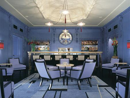 The Berkeley's eye-catching Blue Bar