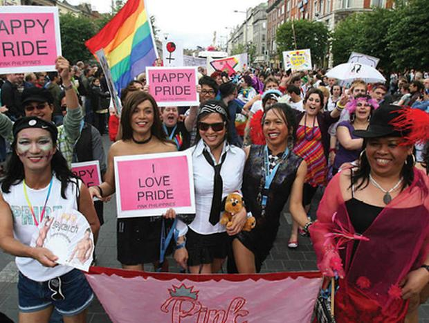 Out and proud: The annual Gay Pride Parade has moved from being defined by protest to being a colourful celebration
