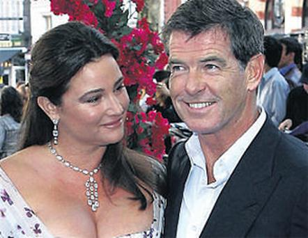 MUSICAL: Pierce Brosnan and wife Keely Shaye Smith at the world premiere of Mama Mia! in London