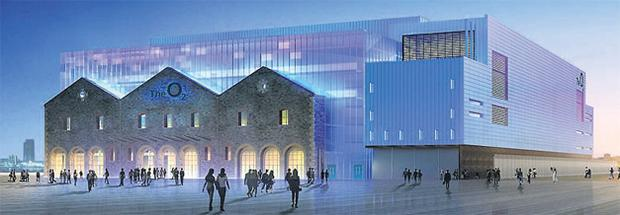 Artist's impression of the new 02 venue at the Point Depot, Dublin, which is due to open in December and which will cater for 9,300 seated, or 13,000 standing