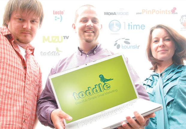The Toddle team: Bartek Czerwinski, senior designer, with chief executive, Alan O'Rourke and studio manager, Jackie O'Sullivan