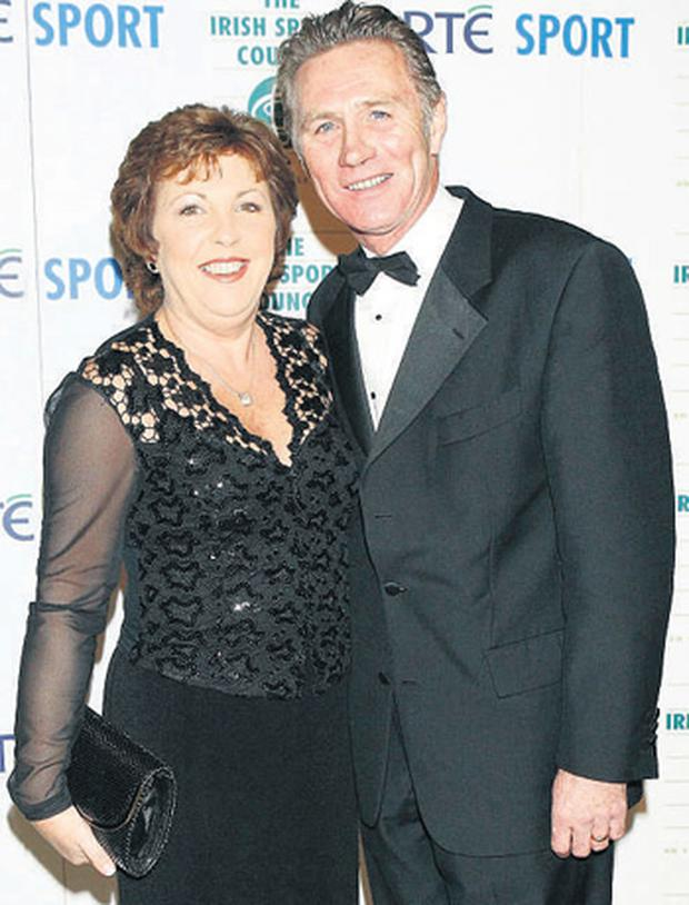 Irish athletic star Eamonn Coghlan with wife Yvonne at the RTE Sport Awards, believes the Irish athletes don't stand a chance against international competitors at this year's Olympic Games in Beijing