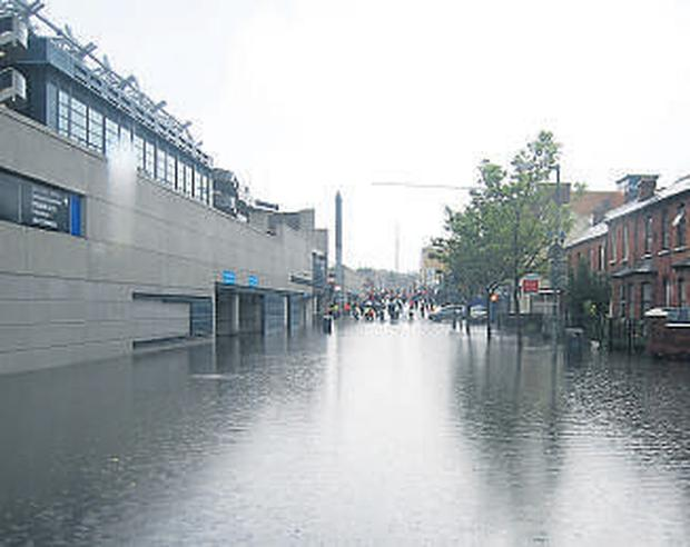Jones Road outside Croke Park became impassable after Saturday's GAA clash between Kerry and Galway