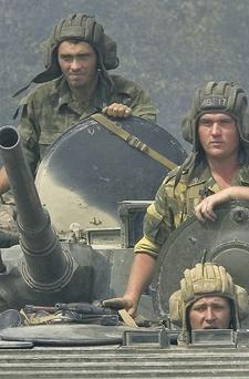 Tensions between the US and Russia were already strained by the conflict in South Ossetia where Russian soldiers fought Georgian forces