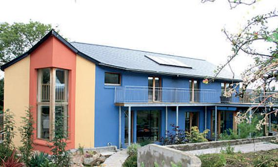 The first Passive House project for Tomas O'Leary and his company MosArt was 'Out of the Blue' - his own County Wicklow home, above, which generates a heating and hot water bill of just €250 annually