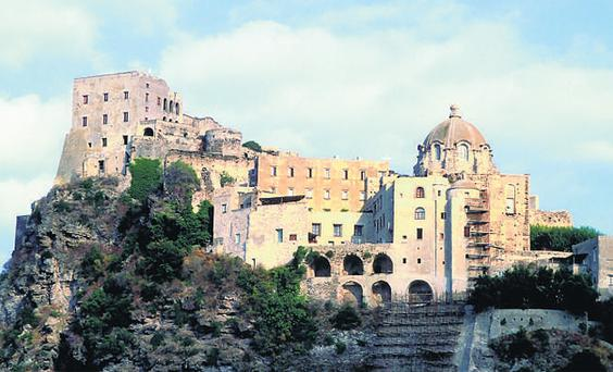 The 15th-Century castle perched atop a hill of lava outside Ischia Porto in the Bay of Naples is still inhabited but you can visit the 11-century crypt to see the stone chair on which dead nuns were placed to decompose