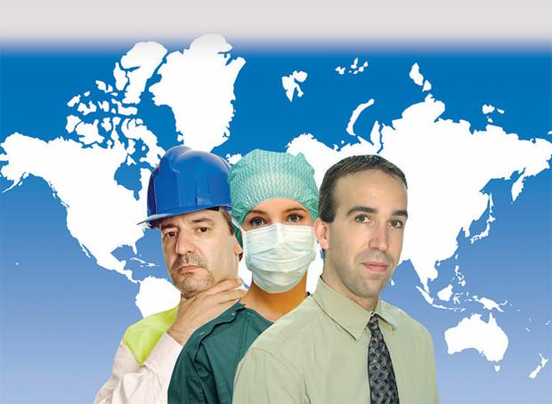 All countries have a shortage of doctors, nurses and physiotherapists