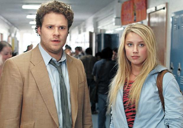 SLACKER HERO: Comedy king Seth Rogen, who plays a stoner, in 'Pineapple Express', which also features Amber Heard
