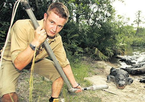 MANY SNAPPY RETURNS: Aidan Power's travels around the world have introduced him to crocs