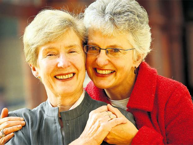 COMMON GOOD: Ann Louise Gilligan, left, and Katherine Zappone decided to spend their lives together six weeks after they first met