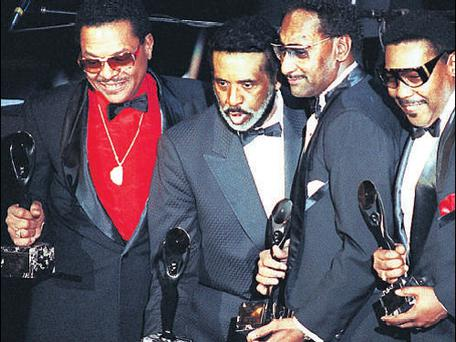 Pioneers: Levi Stubbs, second from left, with The Four Tops in January 1990