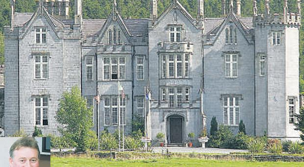 Hotelier Alan Hanly, inset, won a judgment for €750,000 against Kinnitty Castle's owner Cornelius Ryan, which has paved the way for the hotel's sale