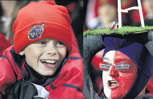 Munster fans at the friendly last night at Thomond Park stadium
