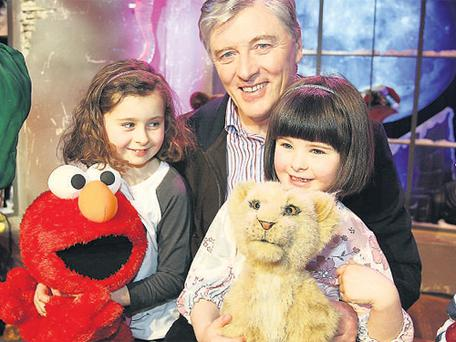 Pat Kenny with Naoise (5) and Tierna (8)