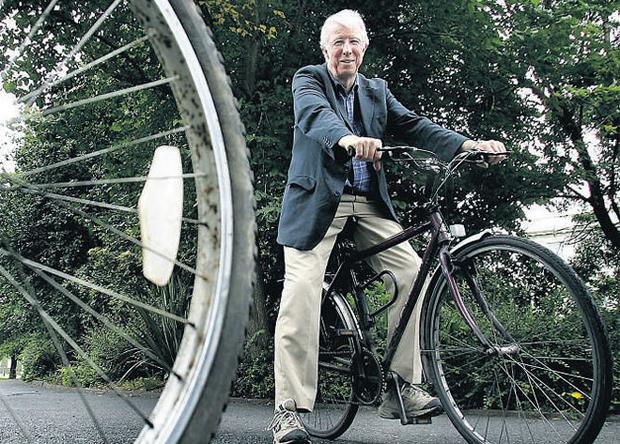 Chairman of the Dublin Cycling Campaign Dr Mike McKillen is an advocate of cycling to work