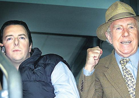 Tony Ryan with his son Shane at Croke Park
