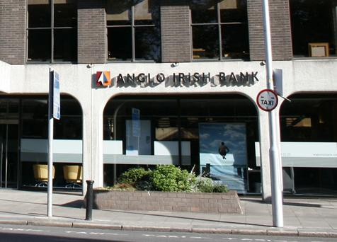 Shares in three of the four listed banks fell further yesterday, with Anglo Irish Bank leading the rout and tumbling 18pc to just 32 cent