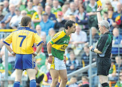 Many referees baulk at showing the second yellow card, but Paddy Russell famously didn't with Kerry's Paul Galvin this summer