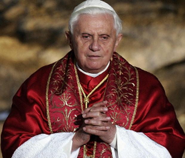 Pope Benedict, pictured yesterday, after controversial comment on homosexuals
