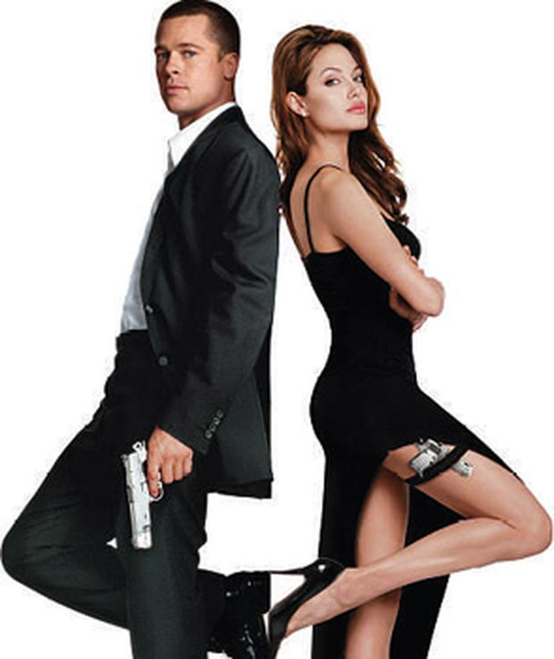NEW LOVE: Brad and Angelina Jolie fell in love on the set of the film Mr & Mrs Smith
