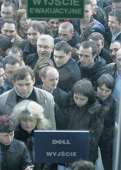 Thousands of people from all over Poland flocked to the impoverished city of Lodz and queued for hours to apply for one of well-paid positions at the computer manufacturer