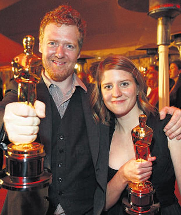 The night of their lives - Glen and Marketa can't believe it as they share their Oscar night glory