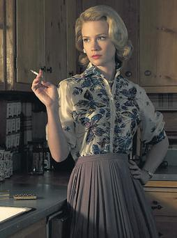 THE DRUGS DON'T WORK: Scientists in the 50s and 60s in America had some bizarre ideas on how to 'cure' mental illness or depression, such as that experienced by housewife Betty Draper (January Jones) in TV series Mad Men