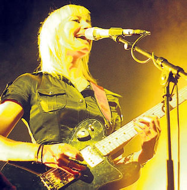 Singer-songwriter Cathy Davey performs at the Tripod