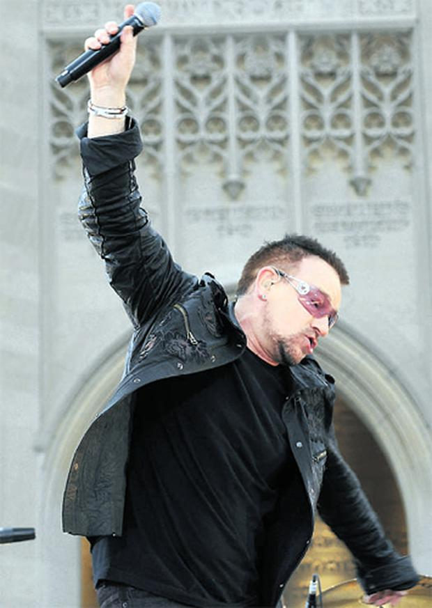 Bono and U2 are embarking on a two-year world tour, details of which are expected today