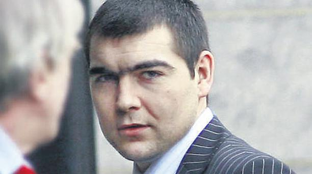 Gary Campion arriving at the Central Criminal Court yesterday where he is on trial for the murder of Frank 'Frankie' Ryan in Limerick in September 2006