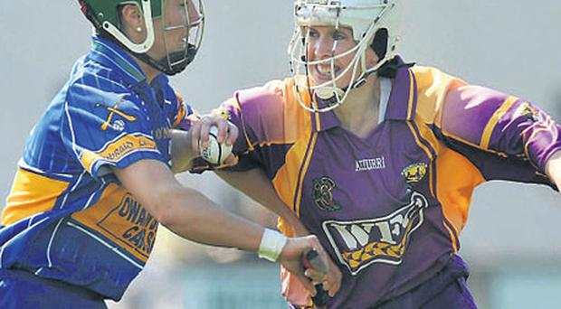 Wexford's Michelle O'Leary in action against Michelle Shortt of Tipperary during their Camogie National League Division 1 final on Saturday