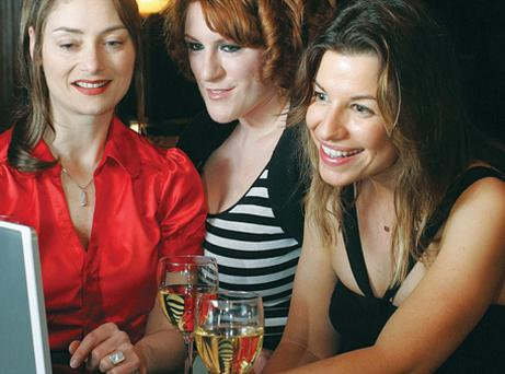 You've got male: Maria Tecce, Tanya Sweeney and Clare McKenna get to grips with e-dating.