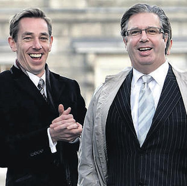 BROTHERLY LOVE: Ryan Tubridy with 'gentle soul' Gerry Ryan