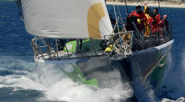 The crew of Green Dragon on board the yacht. Photo: AFP, Getty Images