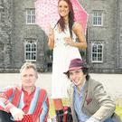 Rock 'n' roll kids: Henry Mountcharles (left), his elder son Alex and younger daughter Tamara at the ancestral home, Slane Castle