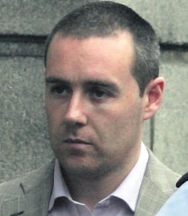 Craig White at the Central Criminal Court yesterday. He denies murdering Noel Roche in 2005