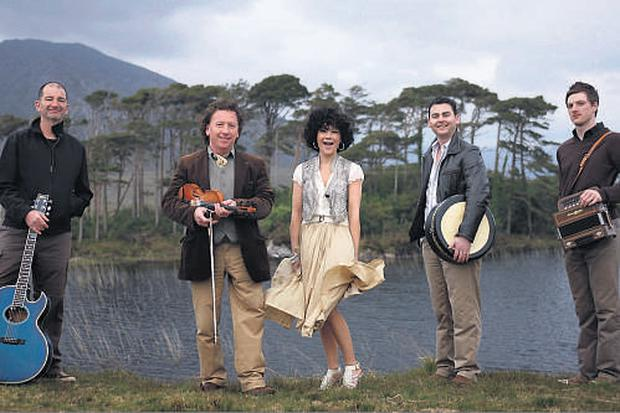 Frankie Gavin & De Dannan, with from left, Mike Galvin, Frankie Gavin, Michelle Lally, Eric Cunningham and Damien Mullane