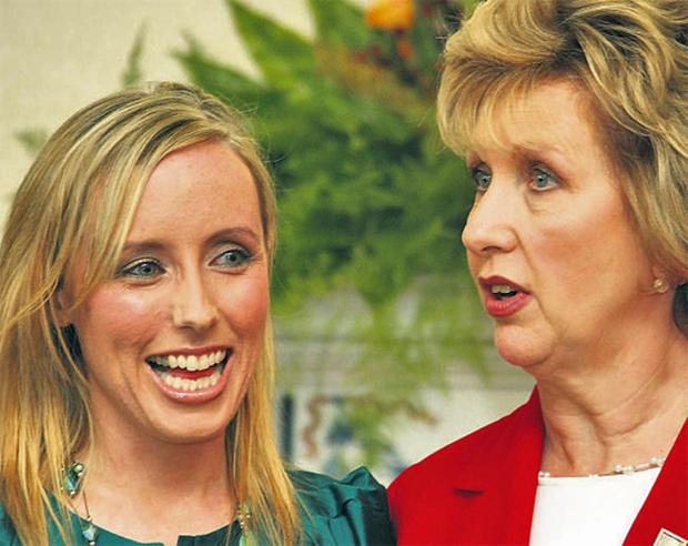 Sharon Commins pictured at Aras an Uachtarain with President Mary McAleese