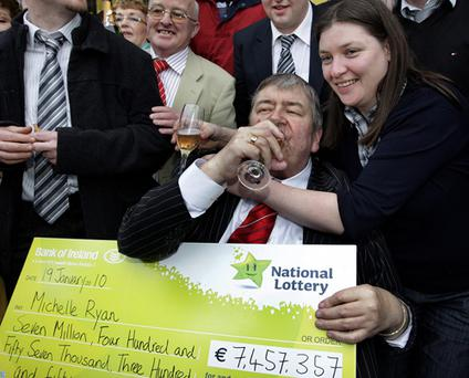 Tommy Joyce and Michelle Ryan are nearly €7.5m better off after winning Saturday's bumper jackpot, and Tommy (64) insisted it was young Dylan (7) who deserved the credit.