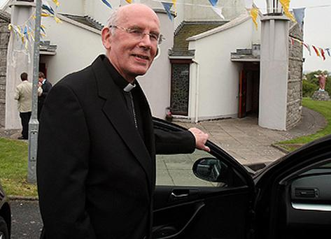 Cardinal Sean Brady after a confirmation service at Church of Our Lady of the Wayside in Co Louth