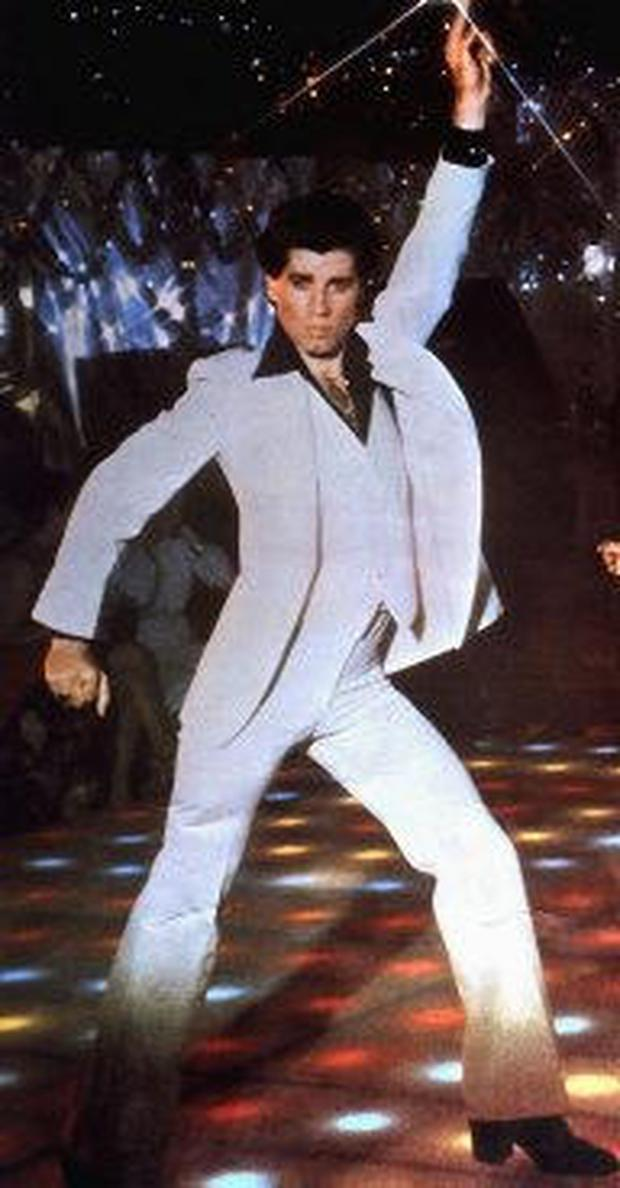 iconic fashion in film john travolta in saturday night fever. Black Bedroom Furniture Sets. Home Design Ideas