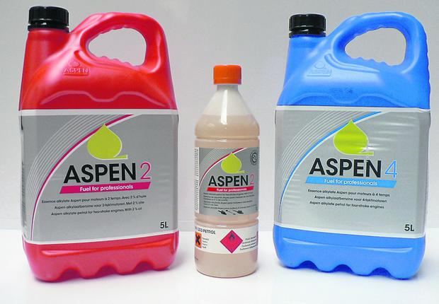 Aspen fuel is available 'straight' or mixed in 1 or 5 litre containers.