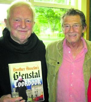 Brother Anselm of Glenstal Abbey with his brother the actor John Hurt. Br Anselm has written a cookbook