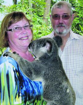 Fionnuala and Jim King during a trip to Australia last year.